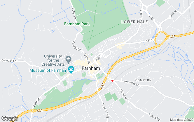 Map for Bridges Estate Agents, Farnham