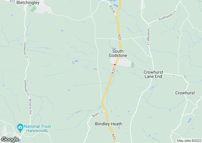 Map for South Godstone, RH9, South Godstone