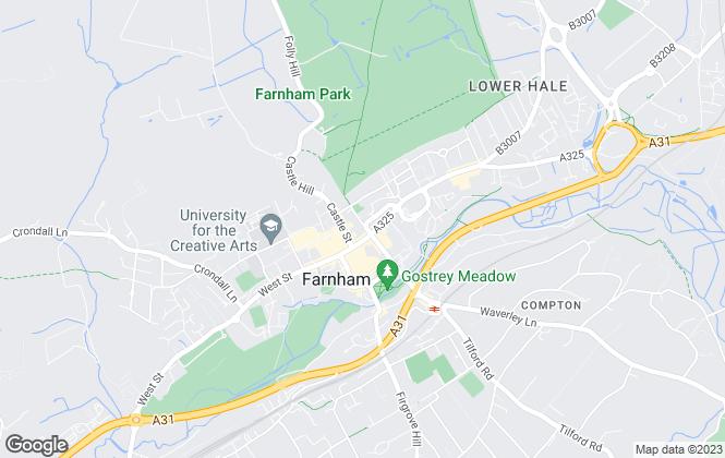 Map for Greenwood & Co, Farnham