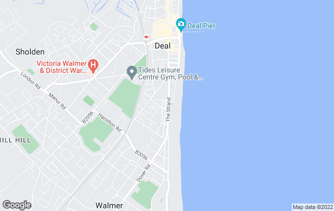 Map for Bank House Properties, Walmer