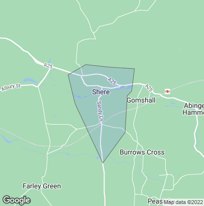 Map of property in Shere