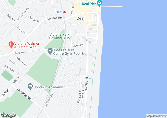 Map for Walmer, Deal, Kent