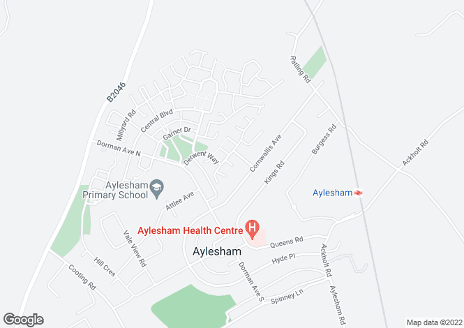 Map for Aylesham, CANTERBURY, Kent