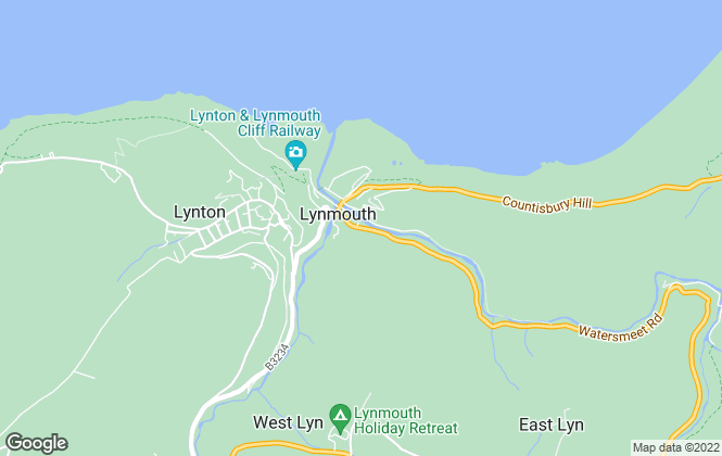 Map for Raffertys, Lynmouth