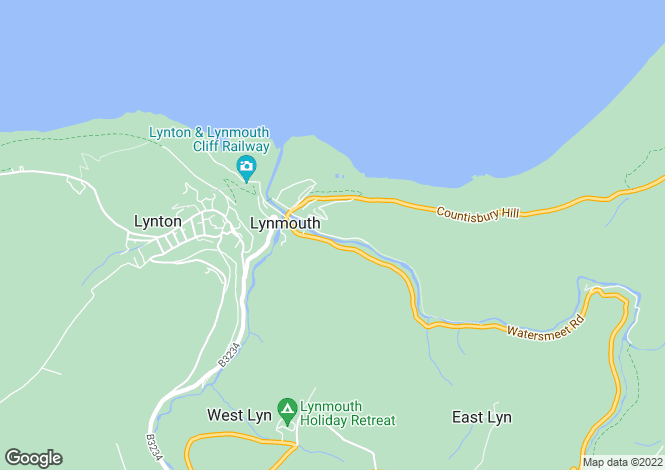 Map for Tors Road, Lynmouth, Devon, EX35