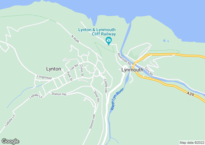Map for Castle Hill, LYNTON, Devon
