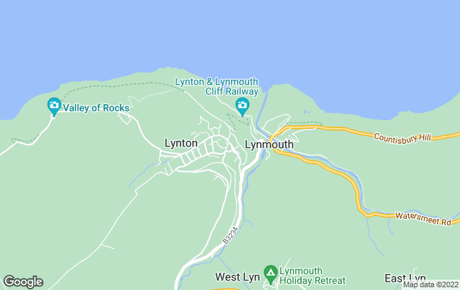 Map for Exmoor Property , Lynton