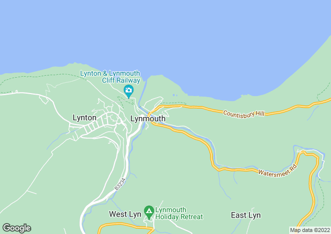 Map for Tors Park, Lynmouth, Devon, EX35