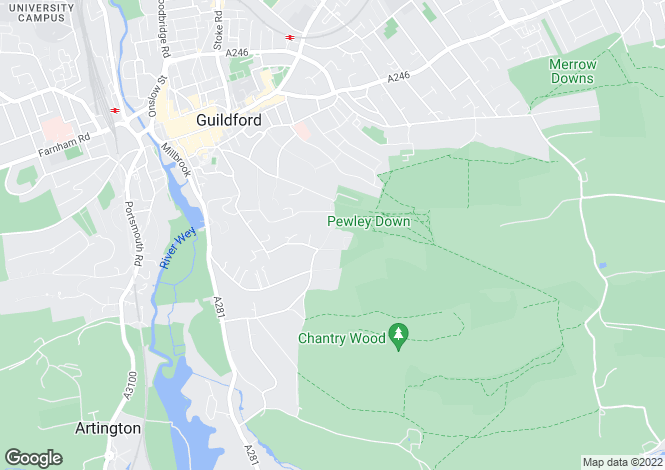 Map for Northdown Lane, Guildford, Surrey, GU1