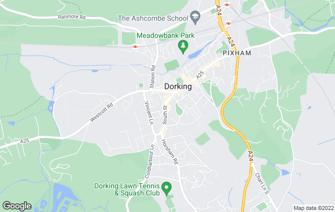 Map for Seymours, Dorking