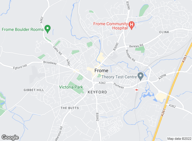 Map for Clive Lewis Lettings, Frome