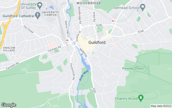 Map for Keep Properties, Guildford