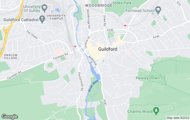 Map for Hill Clements, Guildford