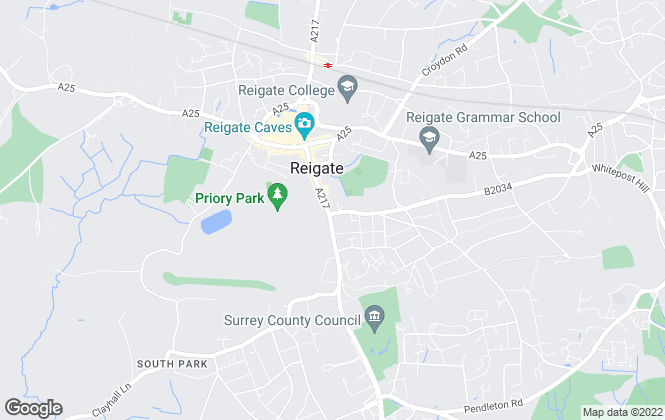 Map for Lever and James Estate Agents, Reigate & Redhill