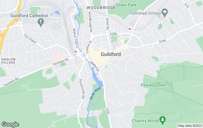 Map for Kingstons, Guildford