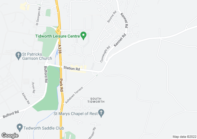 Map for Railway Cottages, Tidworth