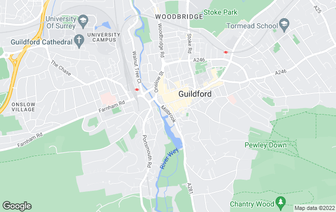 Map for Clarke Gammon Wellers, Guildford