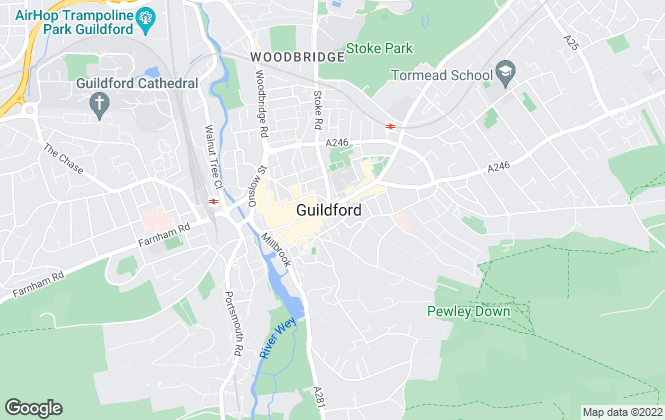 Map for Mann , Guildford