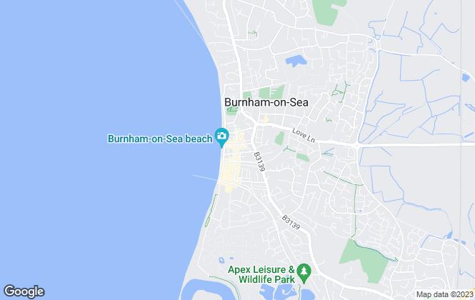 Map for Berryman's, Burnham-on-sea