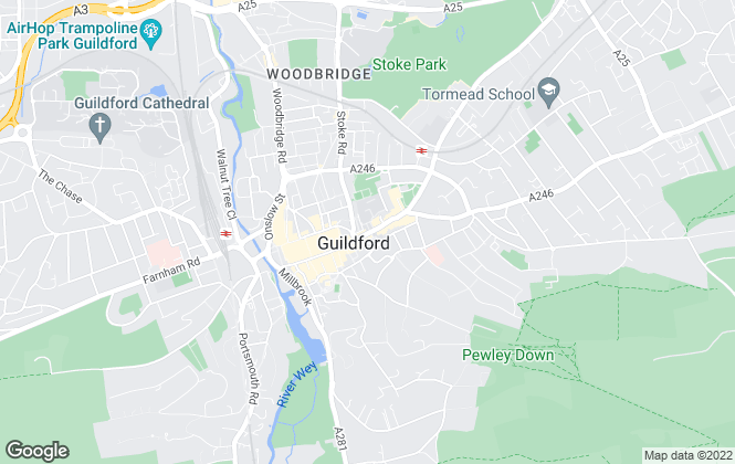 Map for Gascoigne-Pees , Guildford