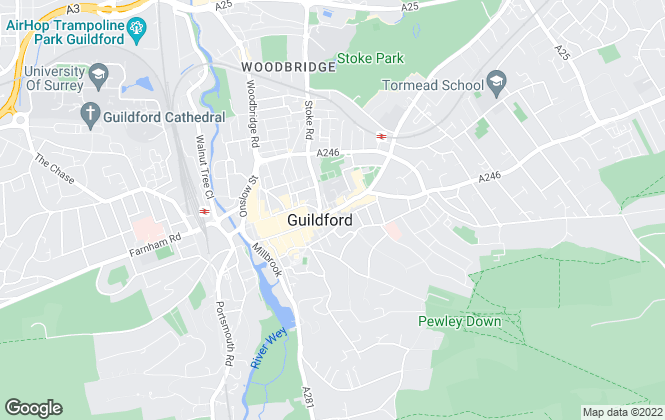 Map for Gascoigne-Pees Lettings, Guildford
