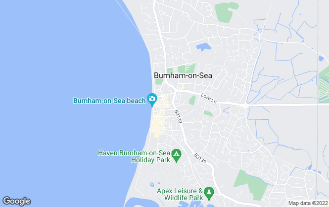 Map for A & F, Burnham-On-Sea