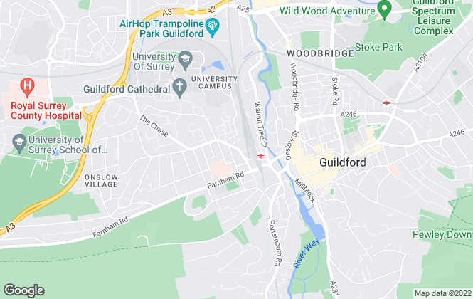 Map for SIMPLYLET.NET, Guildford
