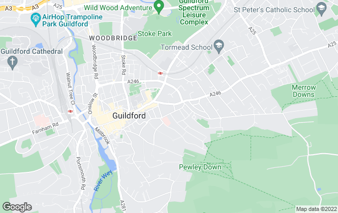 Map for Grantley, Guildford