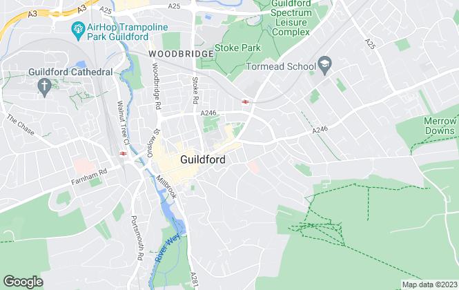 Map for Howard Morley & Sons, Guildford