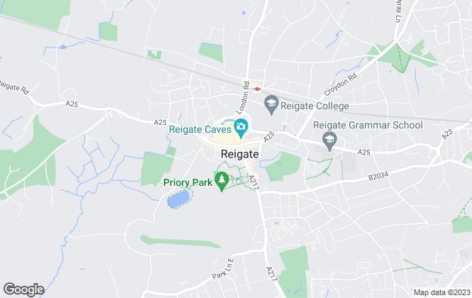 Map for Robert Leech Estate Agents, Reigate