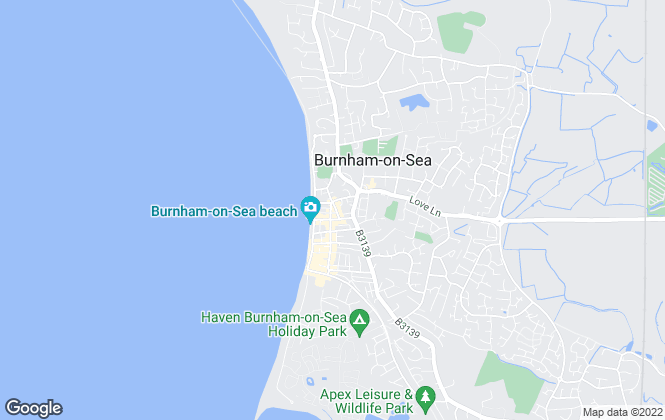 Map for Greenslade Taylor Hunt, Burnham On  Sea - Lettings