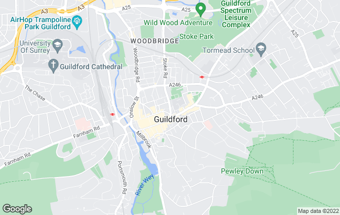 Map for Hamptons International Lettings, Guildford - Lettings