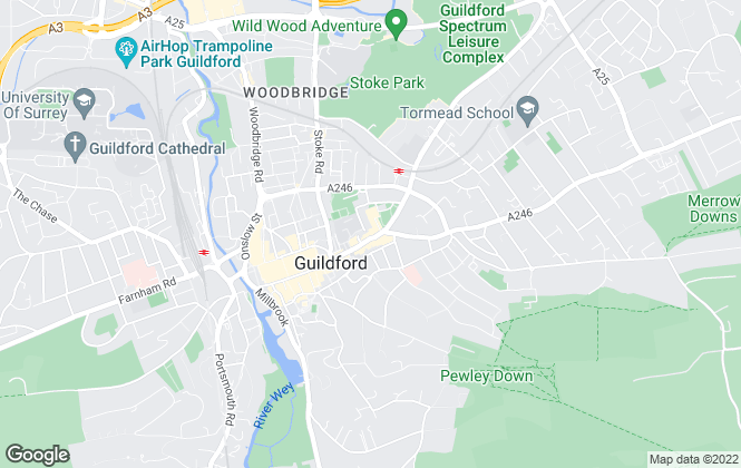 Map for Seymours Letting & Management Services Ltd, Guildford