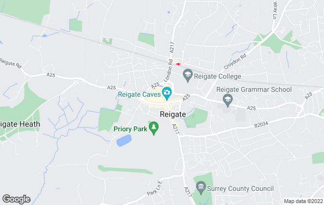 Map for Halliwell Marks, Reigate