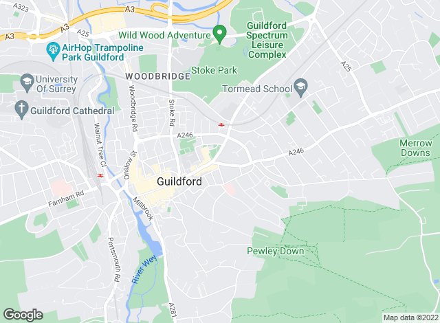 Map for Bourne Estate Agents, Guildford