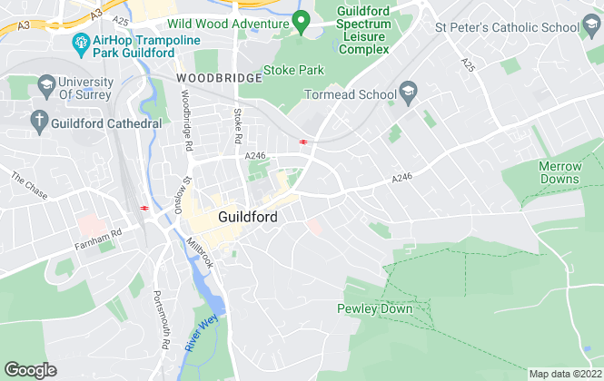 Map for Bourne Estate Agents, Guildford - Lettings