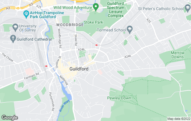 Map for Townends, Guildford