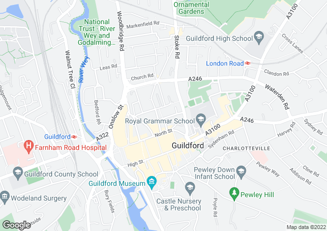 Map for Guildford, Guildford