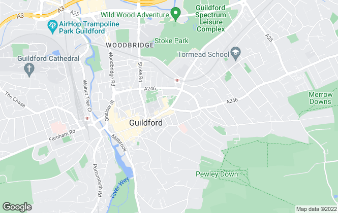 Map for Gascoigne-Pees, Guildford