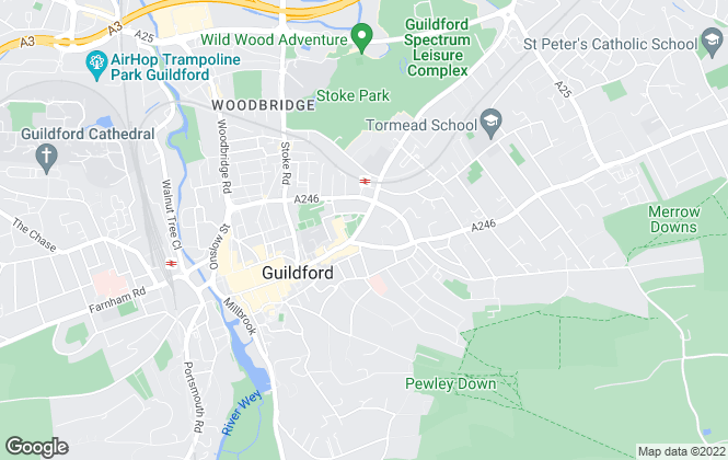 Map for Curchods Estate Agents, Guildford