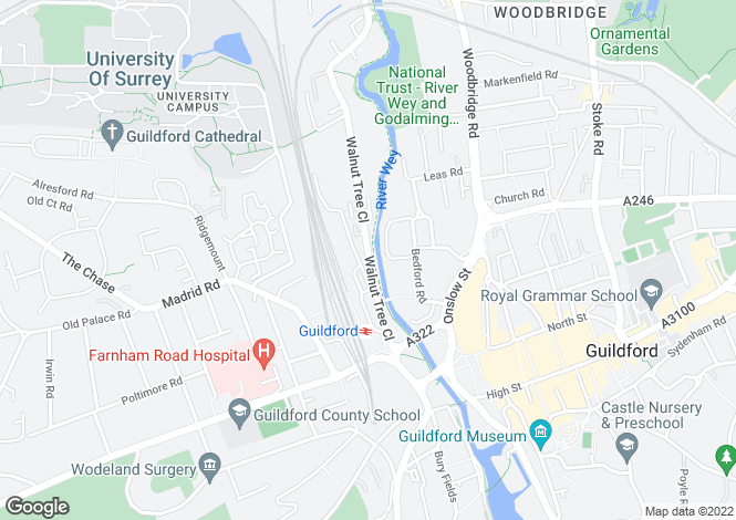 Map for Walnut Tree Close, Guildford