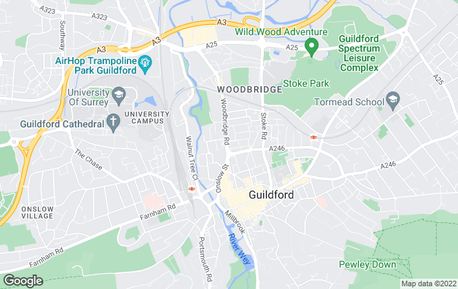 Map for Belvoir, Guildford