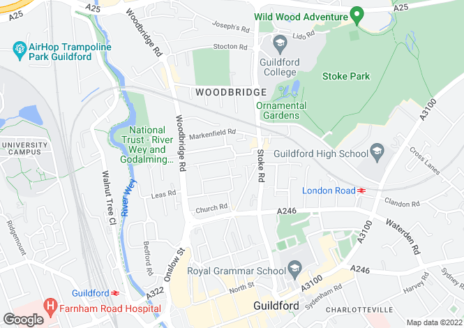Map for Stoke Square, Guildford