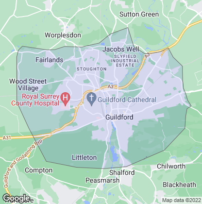 Map of property in Guildford