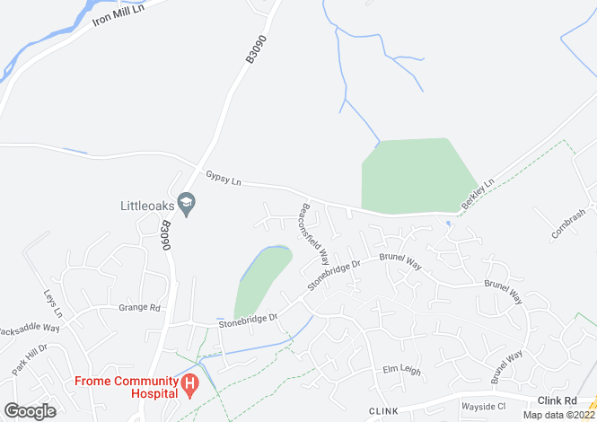 Map for Beaconsfield Way, Frome, Somerset