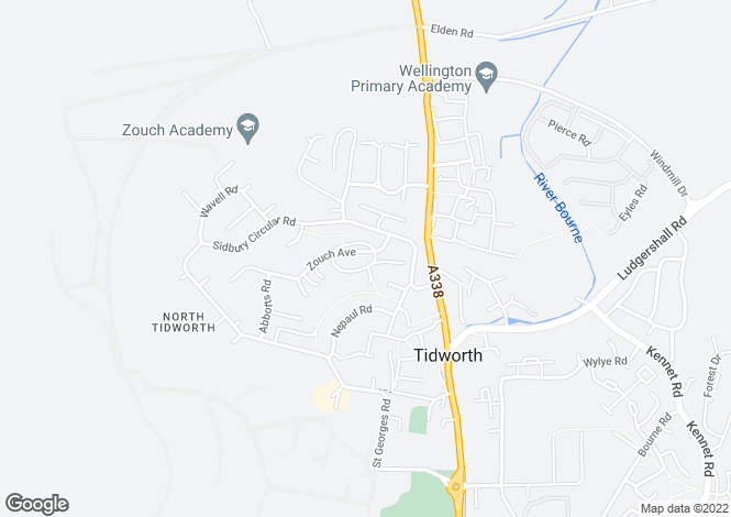 Map for Zouch Close, Tidworth SP9
