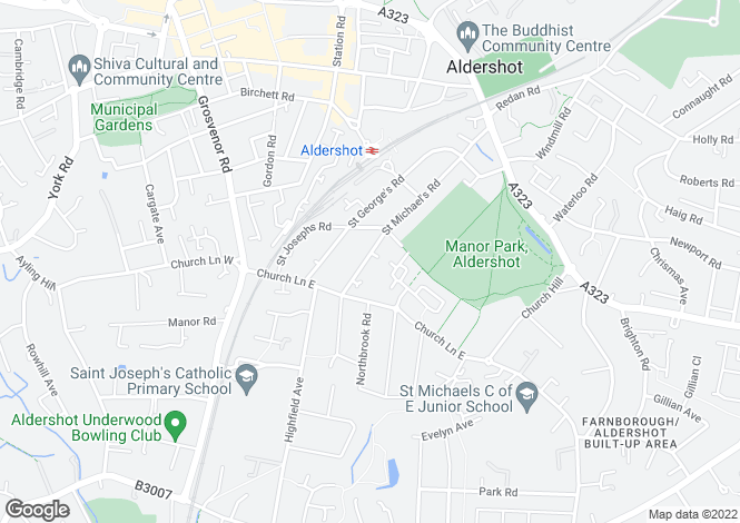 Map for St Michaels Road, Aldershot, GU12
