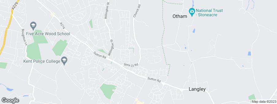 Map for Bellway Homes Ltd (Kent)