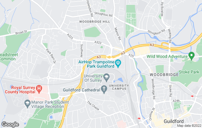 Map for Success Properties, Guildford
