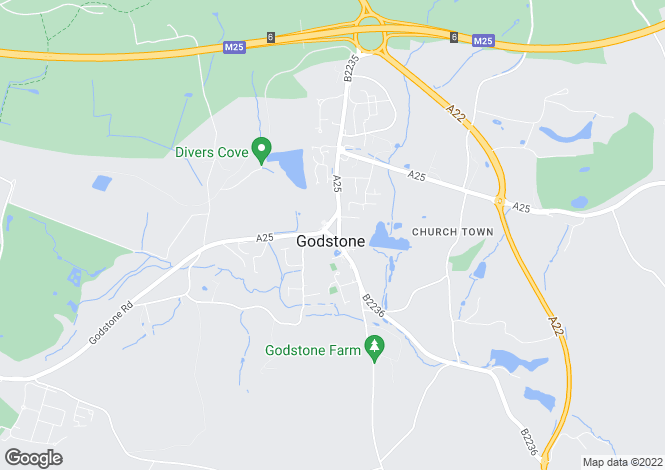 Map for Godstone Green, Godstone